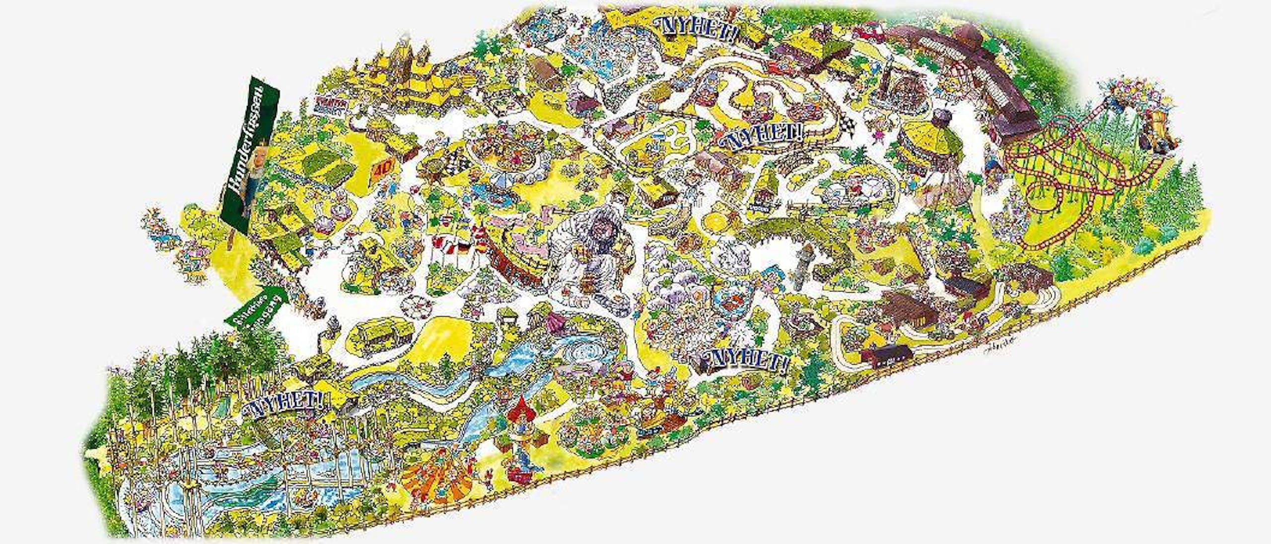 Parkkart  Hunderfossen
